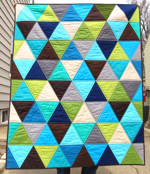 Solids Pyramid Baby Quilt VeronicaMade
